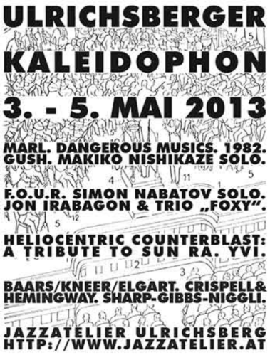 Ulrichsberger Kaleidophon 2013 concert poster