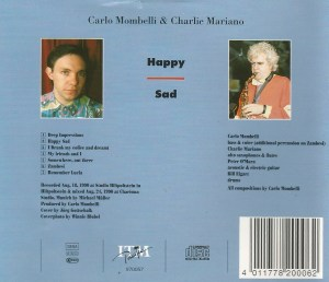 Carlo Mombelli and Charlie Mariano - Happy Sad (1990) ITM Pacific back