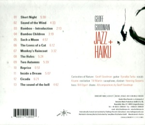 Geoff Goodman - Jazz + Haiku (2011) Double Moon Records back