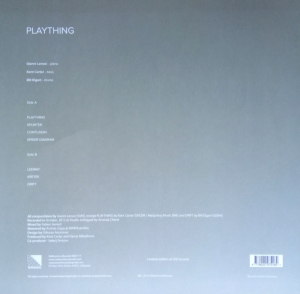 Gianni Lenoci - Kent Carter - Bill Elgart - Plaything (2014) NoBusiness Records back