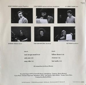 Kenny Wheeler – Around 6 (1980) ECM Records back