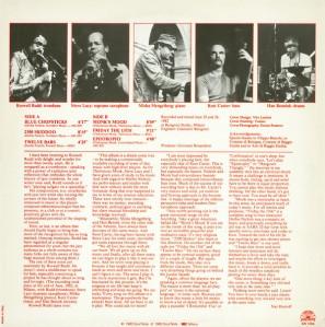 Roswell Rudd - Steve Lacy - Misha Mengelberg - Kent Carter - Han Bennink - Regeneration (1983) Soul Note back