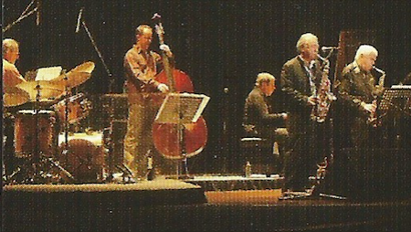 Bill Elgart, Dieter Ilg, Bob Degen, Sadao Watanabe, and Charlie Mariano (from CD booklet)