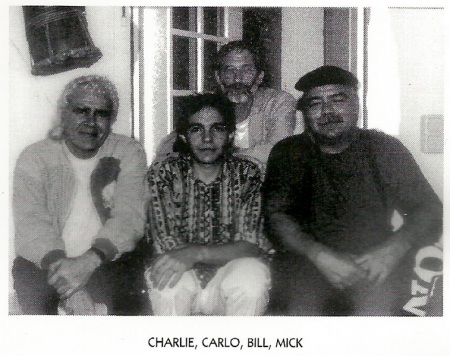 crop of Charlie Mariano, Carlo Mombelli, Bill Elgart, and Mick Goodrick from Dancing In A Museum CD booklet