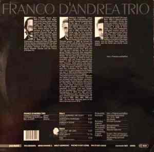 Franco D'Andrea Trio - Franco D'Andrea Trio (1989) YVP Music back