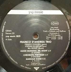 Francp D'Andrea Trio - Franco D'Andrea Trio (1989) YVP Music Label A