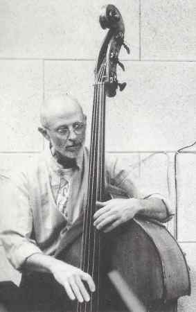 Barre Phillips from Heavy Mental (1991) CD booklet (photo by Gerhard Guglberger)