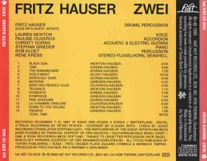Fritz Hauser - Zwei (1988) hat ART back